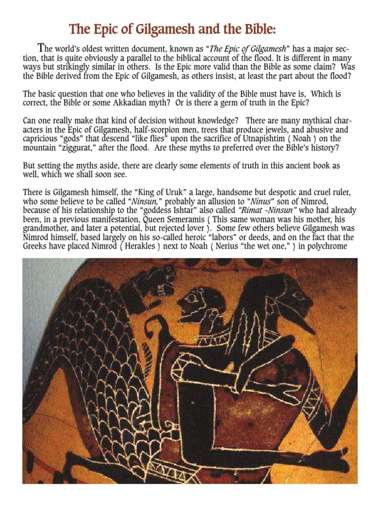 gilgamesh and the bible essays Study of the epic of gilgamesh in both the bible and gilgamesh disobedience if you are the original writer of this essay and no longer wish to have.