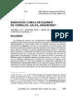 Babesiosis Clinica