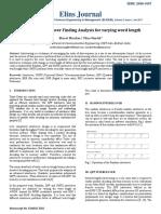 Optimum Interleaver Finding Analysis for varying word length