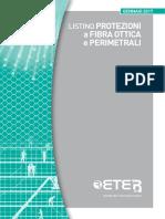 Listino ETER Fibra Ottica e Perimetrale 2017