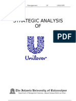 Strategic analysis of UNILEVER Pak. Ltd
