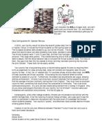 Speaker Bercow Open Letter