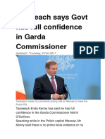 Irelands Greatest Cover Up Crimes by Garda Head Cops and Taoiseach SKenny Says He Has Full Confidence in Garda Commissione in Relation to Treason