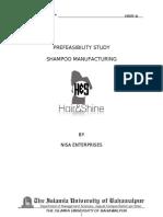 Pre Feasibility of Shampoo Plant