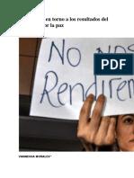 Reflexiones en Torno a Los Resultados Del Plebiscito Por La Paz