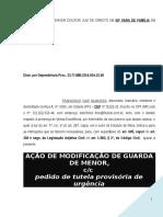 Ação de Modificação de Guarda Com Tutela de Urgência