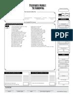 PFS the Harrowing Chronicle Sheet