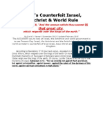 Satan's Counterfeit Israel, Antichrist & World Rule