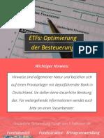 ETF Steuern