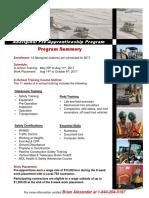 2017 Aboriginal Pre-Apprentice Program Summary Sheet (OETIO)