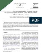 Capacidad Antioxidante Cotiledones y Compuestos Fenólicos Dueñas