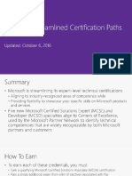 Microsoft Streamlined Certification Paths