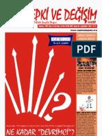 Tepki ve Değişim Dergisi Temmuz 2010 sayısı - Sayı 31