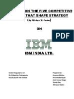 portes five forces on IBM in software Indusrtry