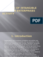 The Role of Intangible Assets in Enterprises Activity