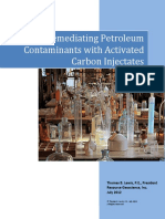 Remediating Petroleum Contaminants Activated Carbon Injectates