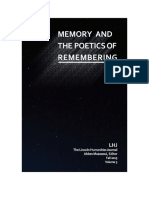 2015 - The Lincoln Humanities Journal - Memory and the poetics of remembering