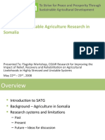 Towards Sustainable Agriculture Research in Somalia