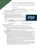 TEMA 1 INTRODUCCIÓN A LOS MERCADOS FINANCIEROS