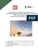 Informe Sobre Incendios Forest Ales CCOO 2007