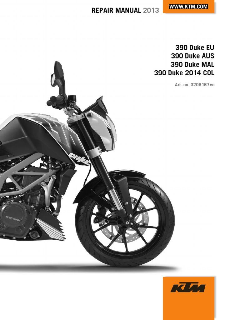 Duke 390 Repair Manual (Full Version - 204pages).pdf | Transmission  (Mechanics) | Clutch