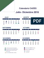 Calendario Cades Jul Dic 2016 2
