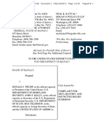 Complaint in State of Hawaii v. Donald Trump et al