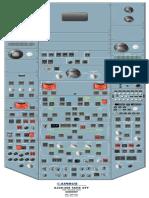 A330 Cockpit overhead panel