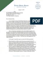 Senator Lee Letter to US Ambassador in Macedonia Seeking Clarification for AID Spending, Influence on Governance