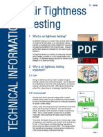 Air Tightness Testing - Technical Information
