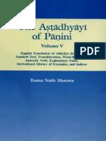 Ashtadhyayi English Commentary by Rama Nath Sharma Vol-5