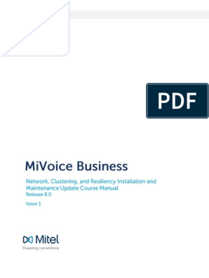 MiVoice Business NCR_tech Update_R8 0 Iss 1 | Telephone | Email