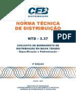 Ntd 3.37 - Conjunto de Barramento de Distribuicao Em Baixa Tensao