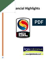 ISL Financial Highlight