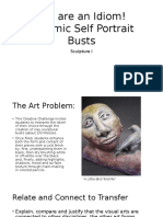 you are an idiom  ceramic self portrait