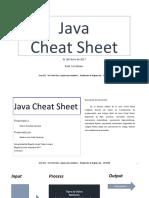 Java Cheat Sheet (Apuntes para estudiantes de programación básica)