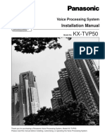 Panasonic Tvp50 Installation Program Manual