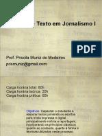 Oficina de Texto Em Jornalismo I