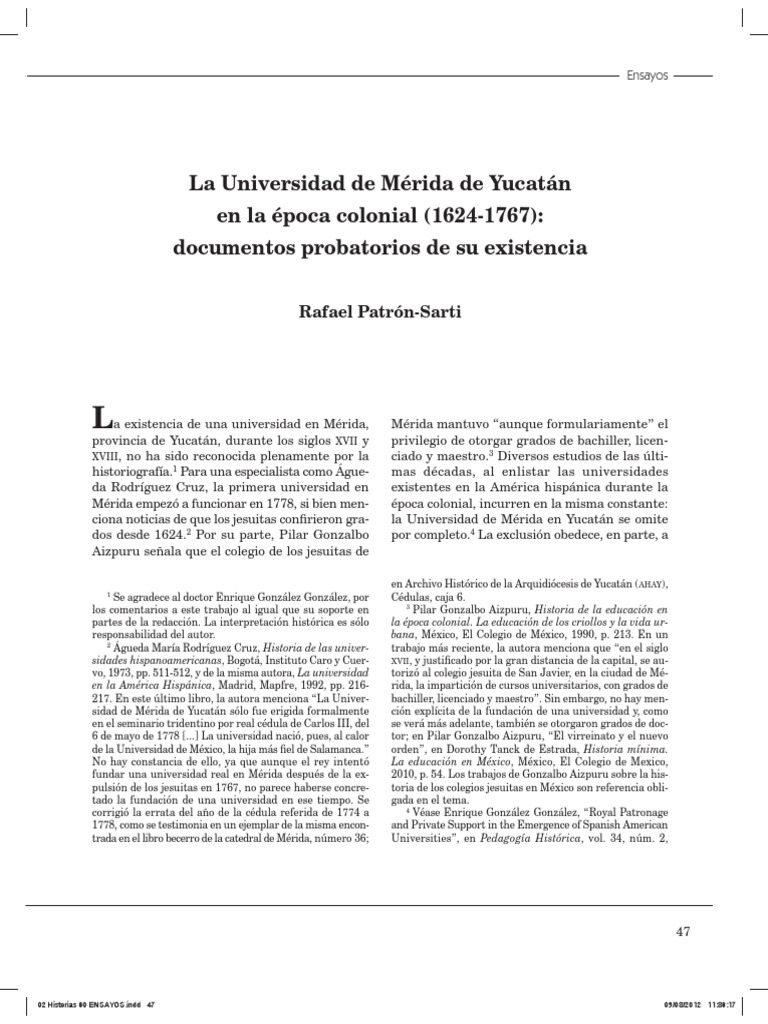 PATRON Universidad Merida
