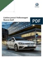 Listino Prezzi Volkswagen Golf 2017