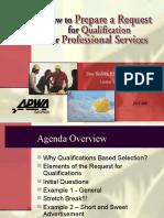How to Prepare a RFQ 072605