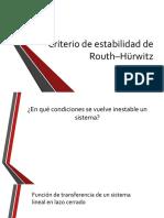 20 - Criterio de estabilidad de Routh–Hürwitz