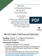 MEC 410 Chapter 7 Spring 2017