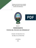 Monografia de Aprendizaje