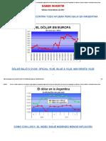 El Dólar Recupera en El Mundo Pero Sigue Bajando en La Argentina. Bajan Fuerte Los Bonos de India, Grecia y México, Pero Los Argentinos Se Sostienen