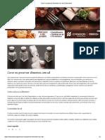 Curar Ou Preservar Alimentos Com Sal