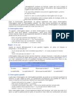 La interrogación en francés