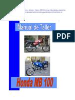 Honda Mb 100 Manual de Taller