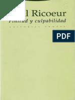 Finitud y Culpabilidad, Ricoeur Paul