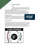 Five Pronunciation Games for Brazil Article